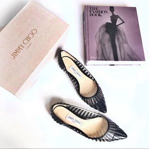 Jimmy Choo Romy PVC Flats Patent Leather